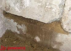 Плесень в углу в панельного дома